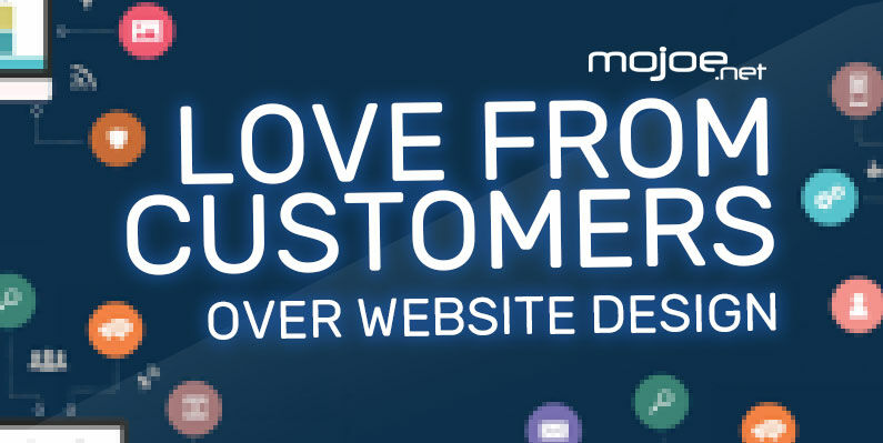 Love From Customers Over Website Design
